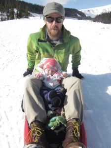 So many people thought Marin was the most amazing baby, sitting so quiet with her daddy, slowly cruising through the snow